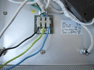 lampe kabel blau braun