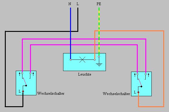 wechselschaltung schaltplan; wechselschaltung